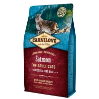 Carnilove Salmon for Adult Cats Sensitive & Long Hair (лосось) фото в интернет-магазине ZooVsem.by