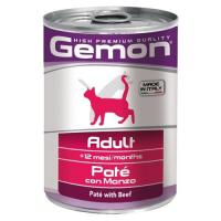 Gemon Cat Adult Pate Beef 400 г фото в интернет-магазине ZooVsem.by
